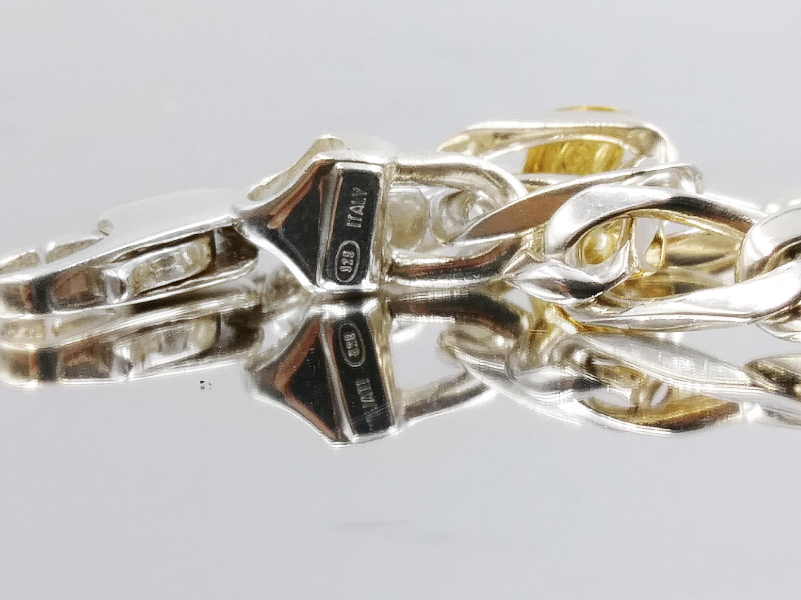 Silver Bracelet Stamped 925 Italy