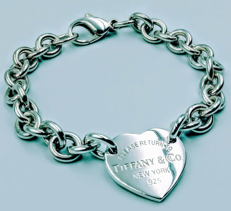 <b>Tiffany & Co.</b> Please Return To Tiffany & Co Heart Tag Bracelet 8.0