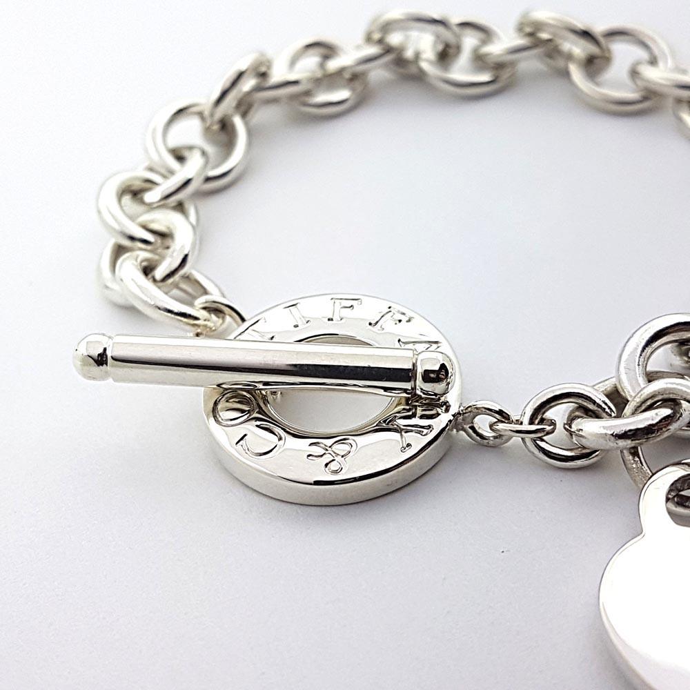 Toggle Charm Bracelet: Tiffany & Co. Toggle With Heart Charm Bracelet 7.5