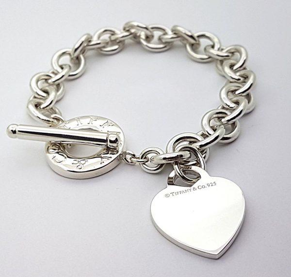 ce0b5610647a1 Tiffany & Co. Toggle with Heart Charm Bracelet 8