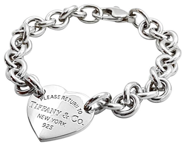 <b>Tiffany & Co.</b> Please Return To Tiffany & Co Heart Tag Bracelet  7