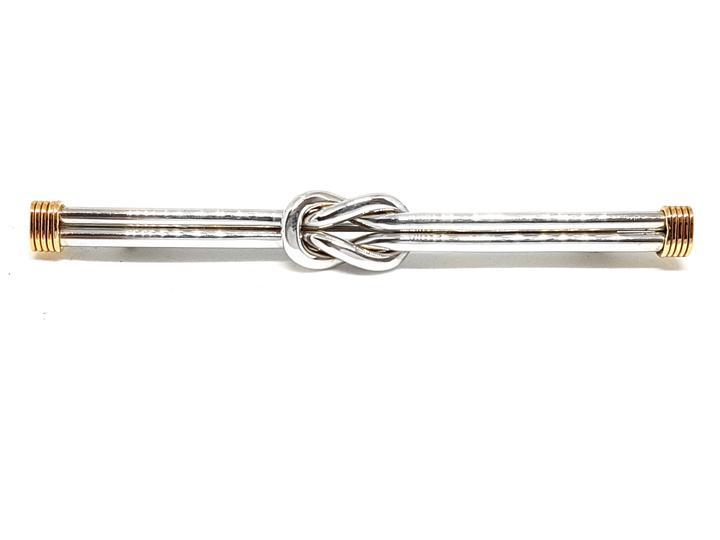 <b>Tiffany & Co.</b><br> Vintage Love Knot Brooch 925 Sterling Silver & 14karat Yellow Gold