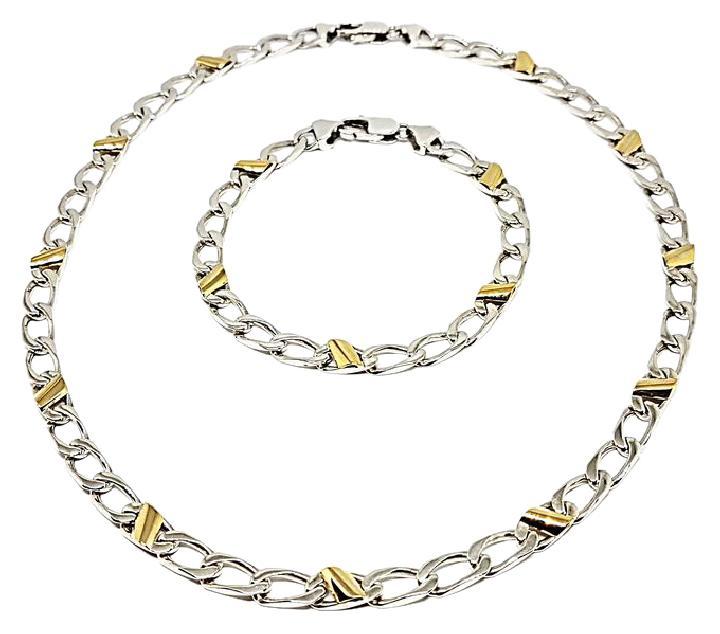 f793c8f82 Tiffany & Co. Stunning Co 18k Gold/Sterling Silver Bracelet Set ...
