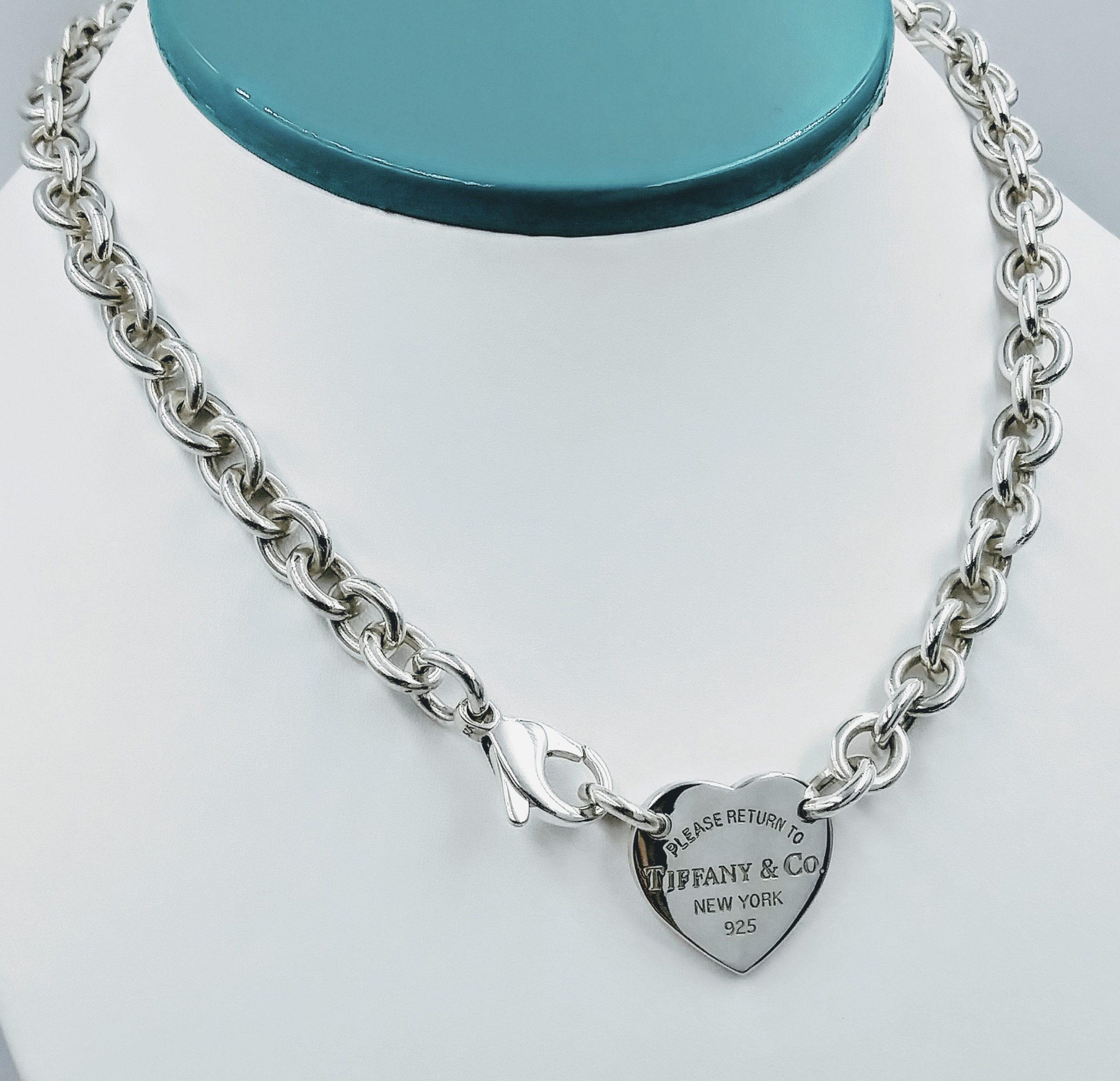 Tiffany Co 19 Please Return To Tiffany Co Heart Tag Choker Necklace Smartshop Jewelry