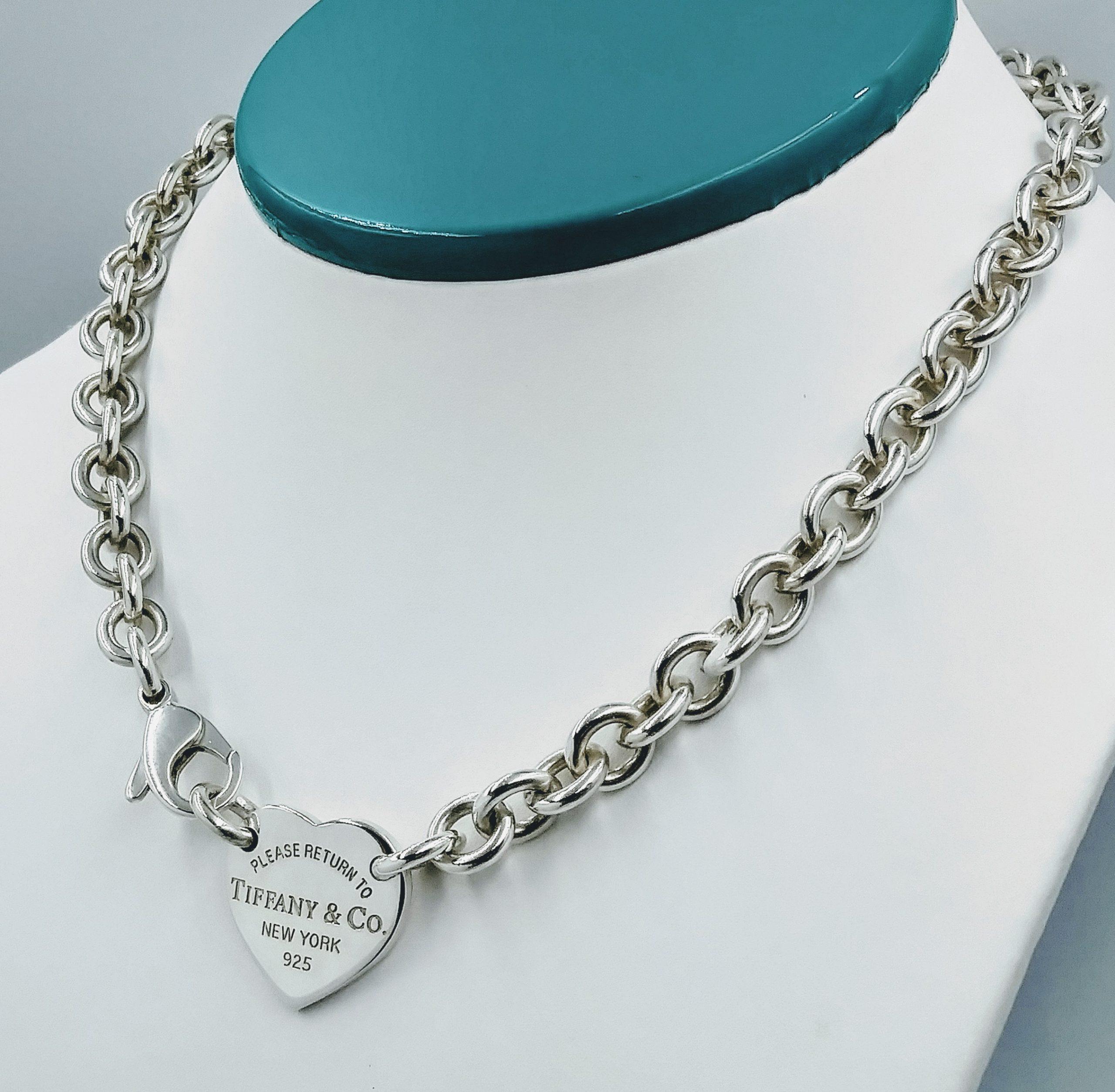 Tiffany Co 18 Please Return To Tiffany Co Heart Tag Choker Necklace Smartshop Jewelry